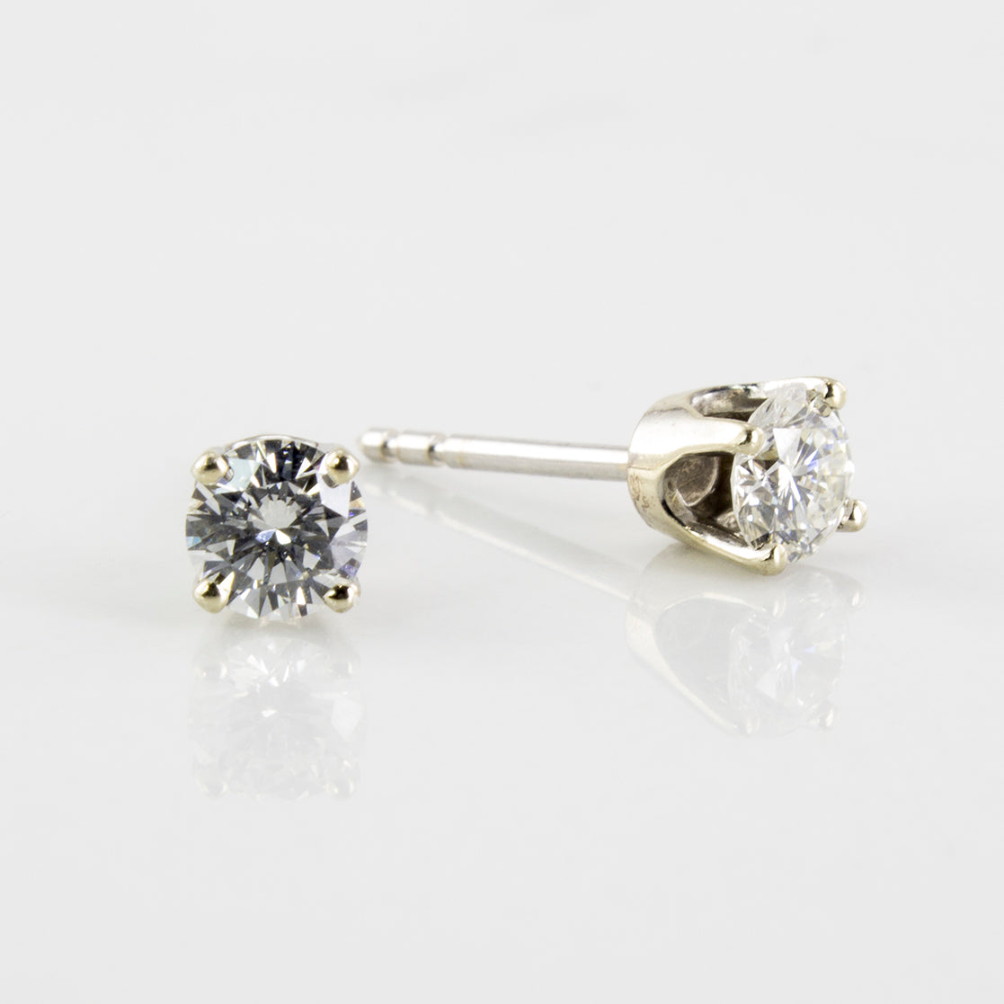 Diamond Solitaire Stud Earrings | 0.50 ctw |