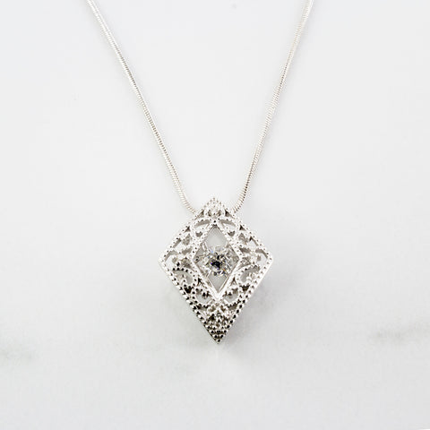 'Love in Motion' Necklace With Canadian Diamonds | 0.24 ctw | SZ 16"