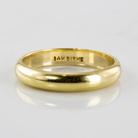 'Birks' Retro Era Yellow Gold Wedding Band | SZ 6.5 |