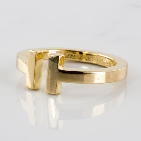 'Tiffany & Co.' T Square Ring | SZ 8.5 |