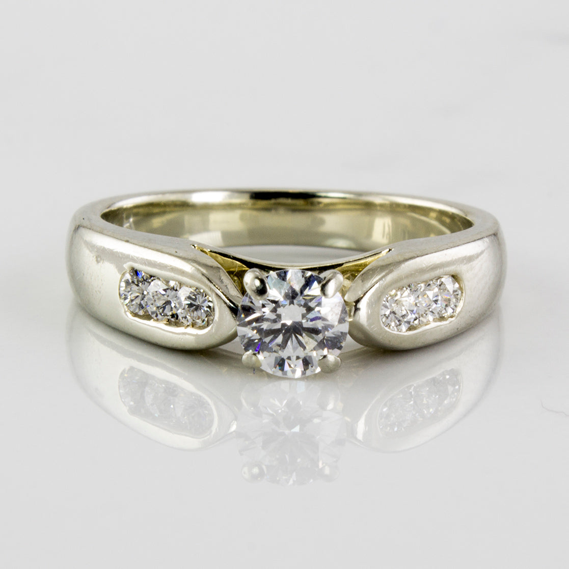 Wide Band Diamond Engagement Ring | 0.42 ctw | SZ 4.75 |