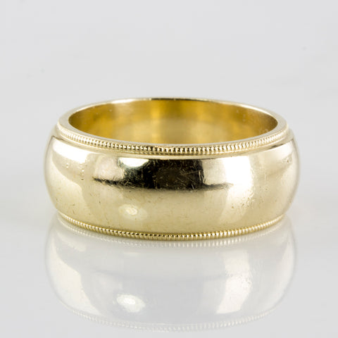 'ArtCarved' Milgrain Textured Wedding Band | SZ 4.75 |