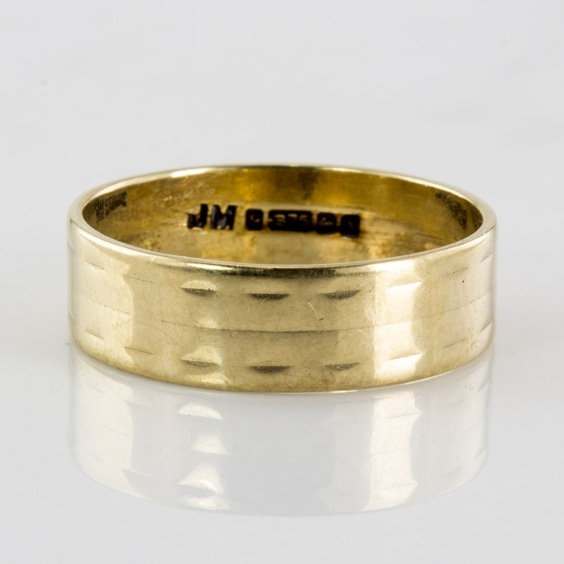 '1862' Victorian Yellow Gold Band | SZ 6.5 |