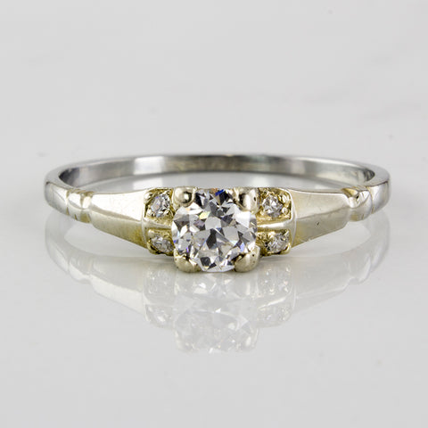 Art Deco Diamond Engagement Ring | 0.35 ctw | SZ 8.25 |