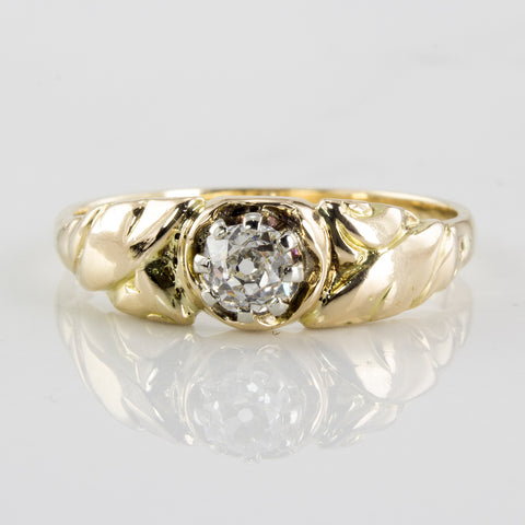 Victorian Engagement Ring Circa 1880's | 0.33 ctw | SZ 10.5 |