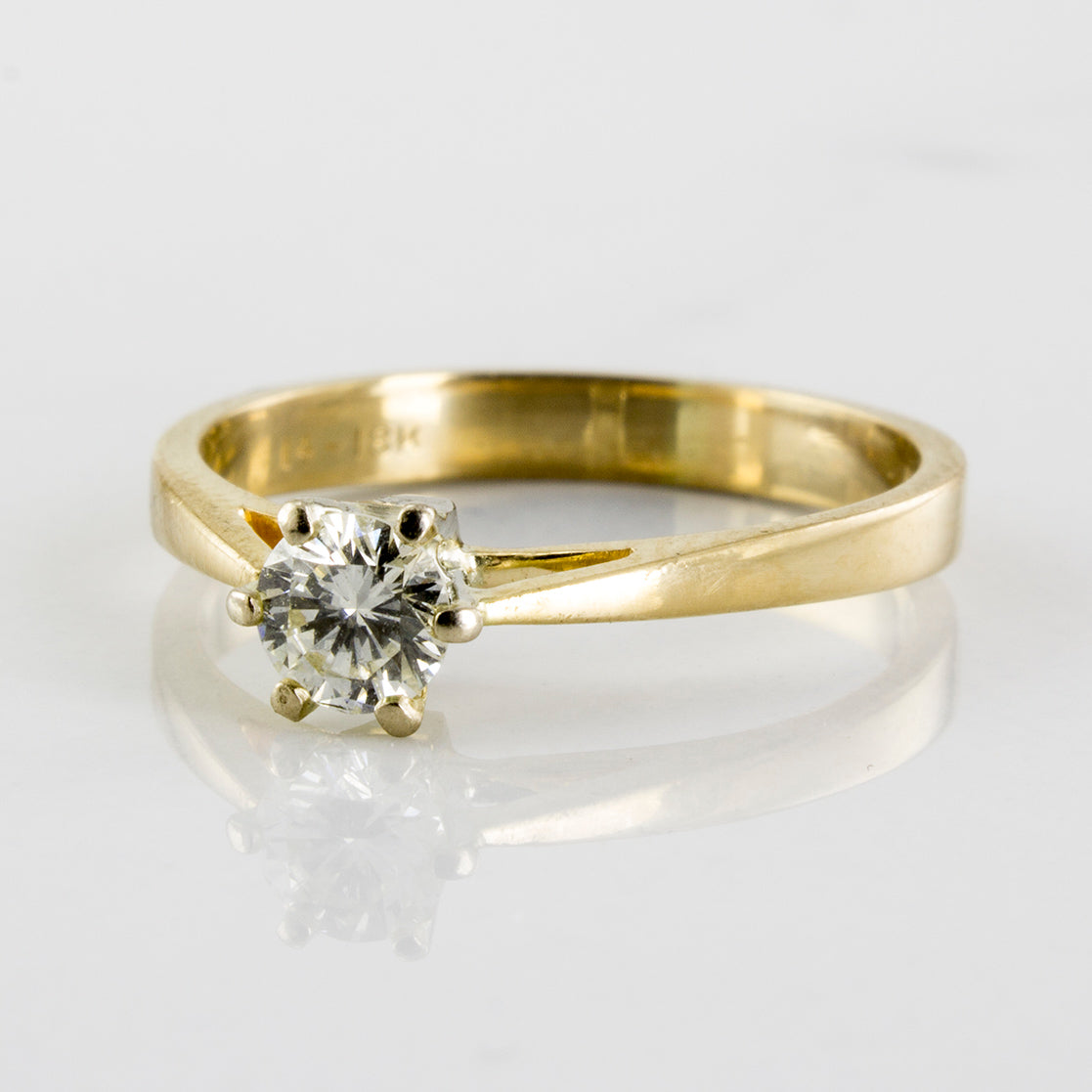 Six Prong Tapered Cathedral Engagement Ring | 0.25 ctw | SZ 5.75 |