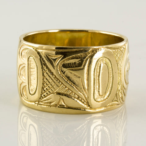 Haida Wide Band Eagle Ring | SZ 10.25 |