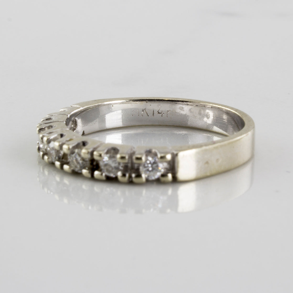 Prong Set Semi Eternity Diamond Band | 0.20ctw | SZ 4 |