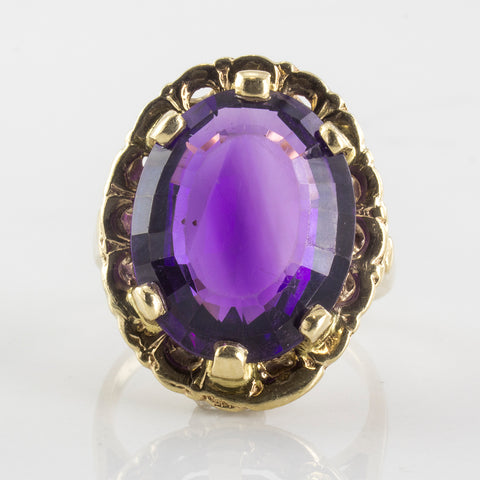 1970's Amethyst Cocktail Ring | 6.00 ct | SZ 5.75 |