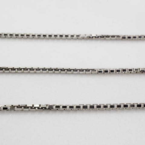 10k White Gold Box Chain | SZ 20"