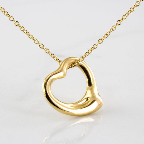 'Tiffany & Co.' Elsa Peretti Open Heart Necklace | 16"