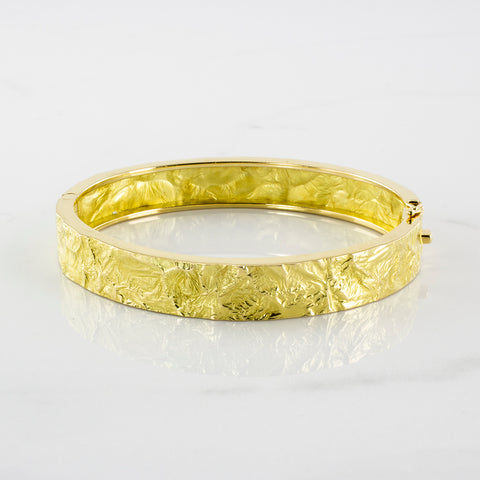 'Cavelti' Reticulated Hinged Bangle Bracelet | SZ 7.5"