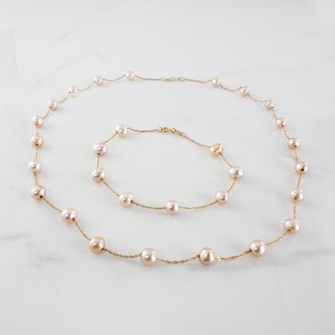 'EFFY' Pearl Bracelet & Necklace Set |