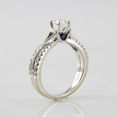 'Vera Wang' Engagement Ring With Hidden Blue Sapphires | 0.75ctw | SZ 6 |