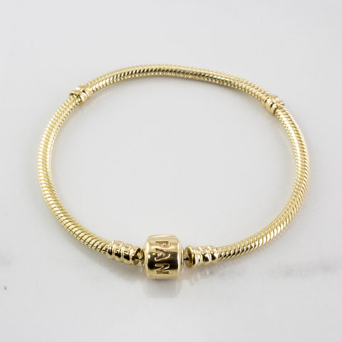 'Pandora' Moments Gold Clasp Bracelet | SZ 7"