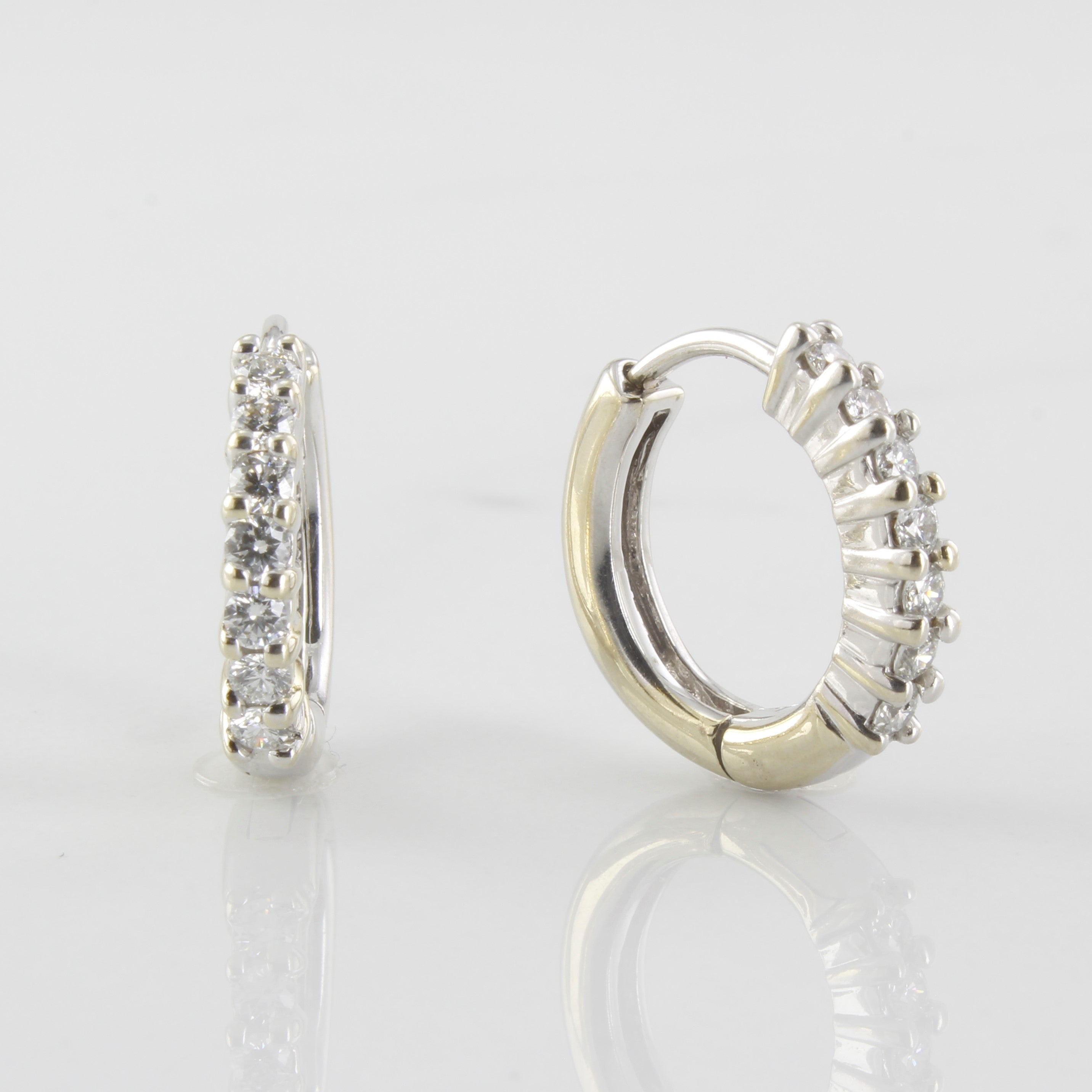 'Birks' Diamond Hinge Hoop Earrings | 0.45ctw |
