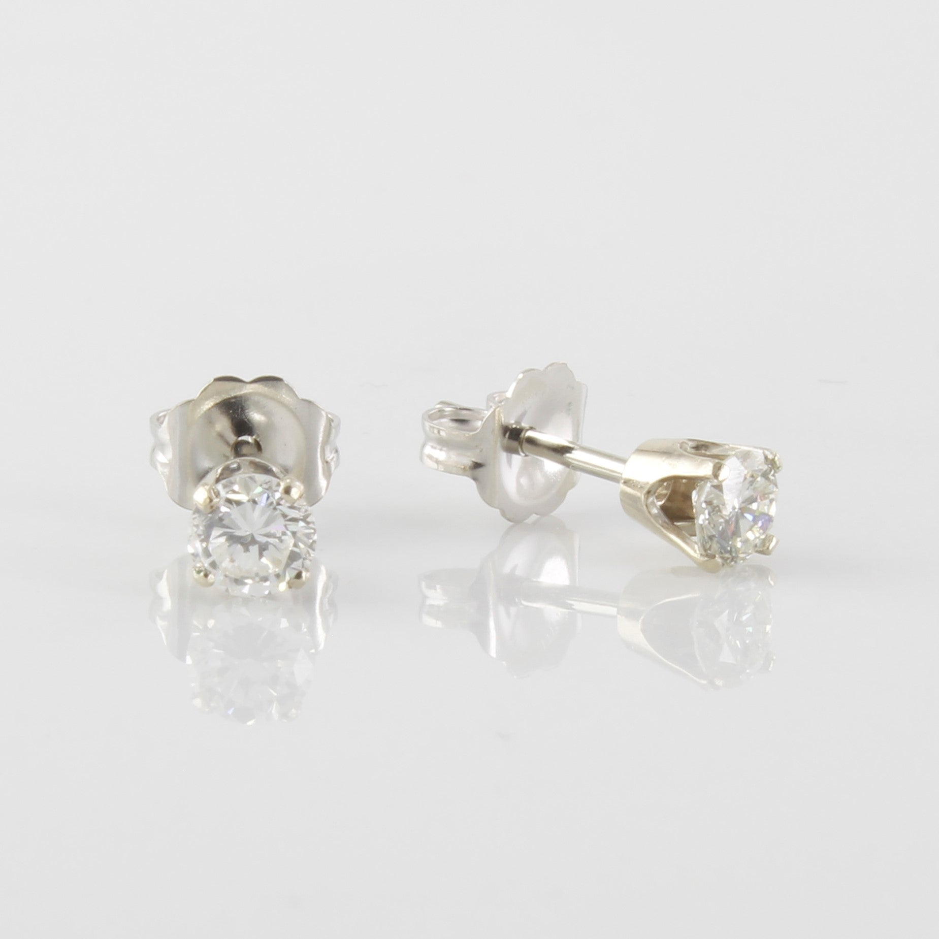 Diamond Solitaire Stud Earrings | 0.44ctw |