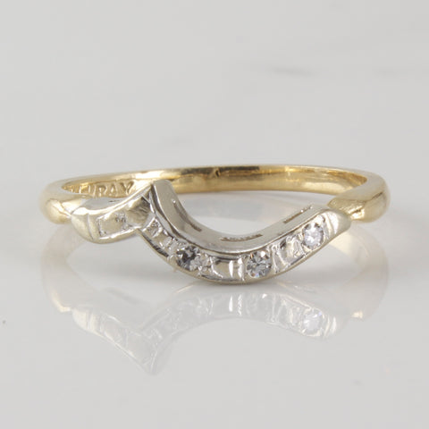 1930s Diamond Contour Wedding Band | 0.03ctw | SZ 6.5 |