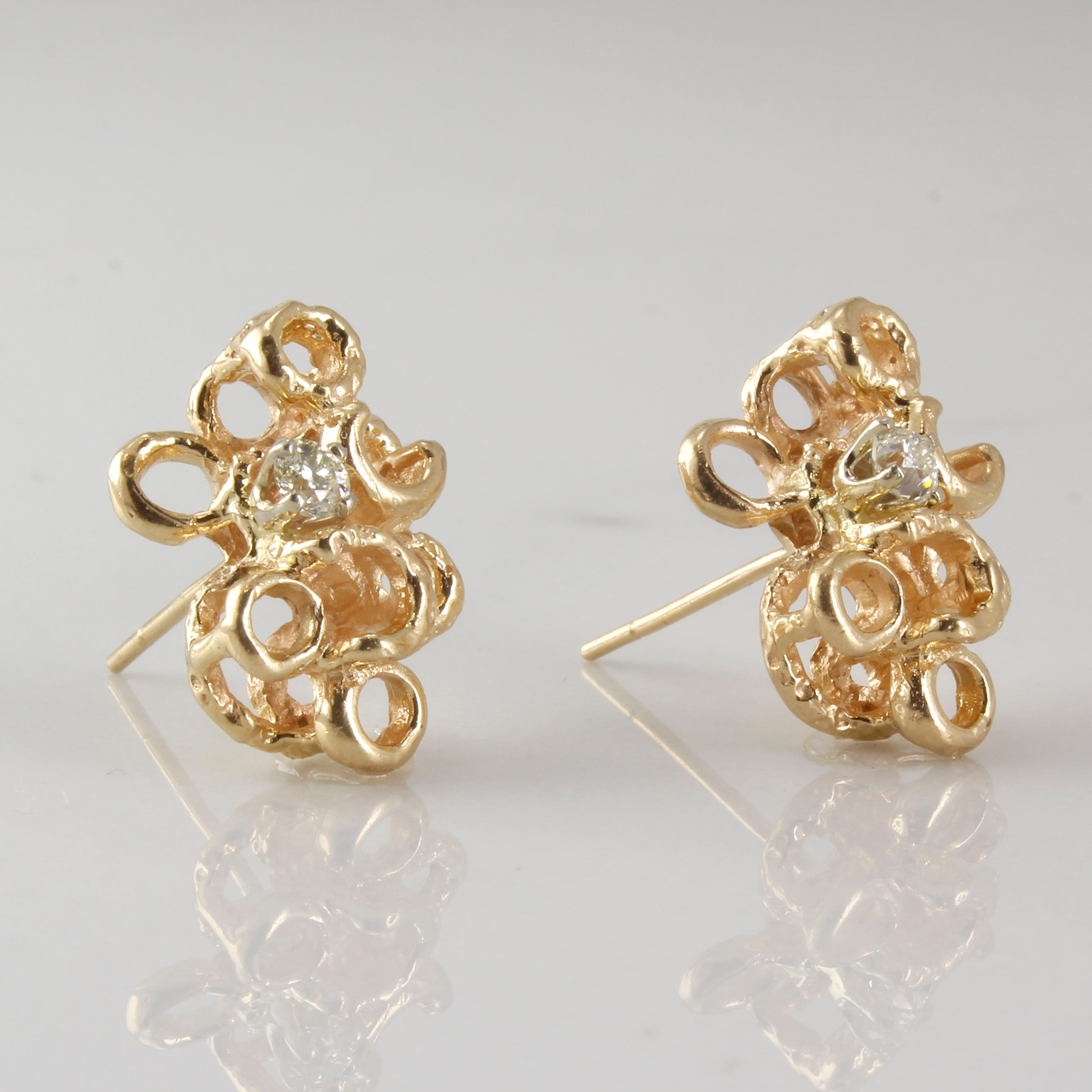 Custom Old Mine Cut Diamond Earrings | 0.24ctw |