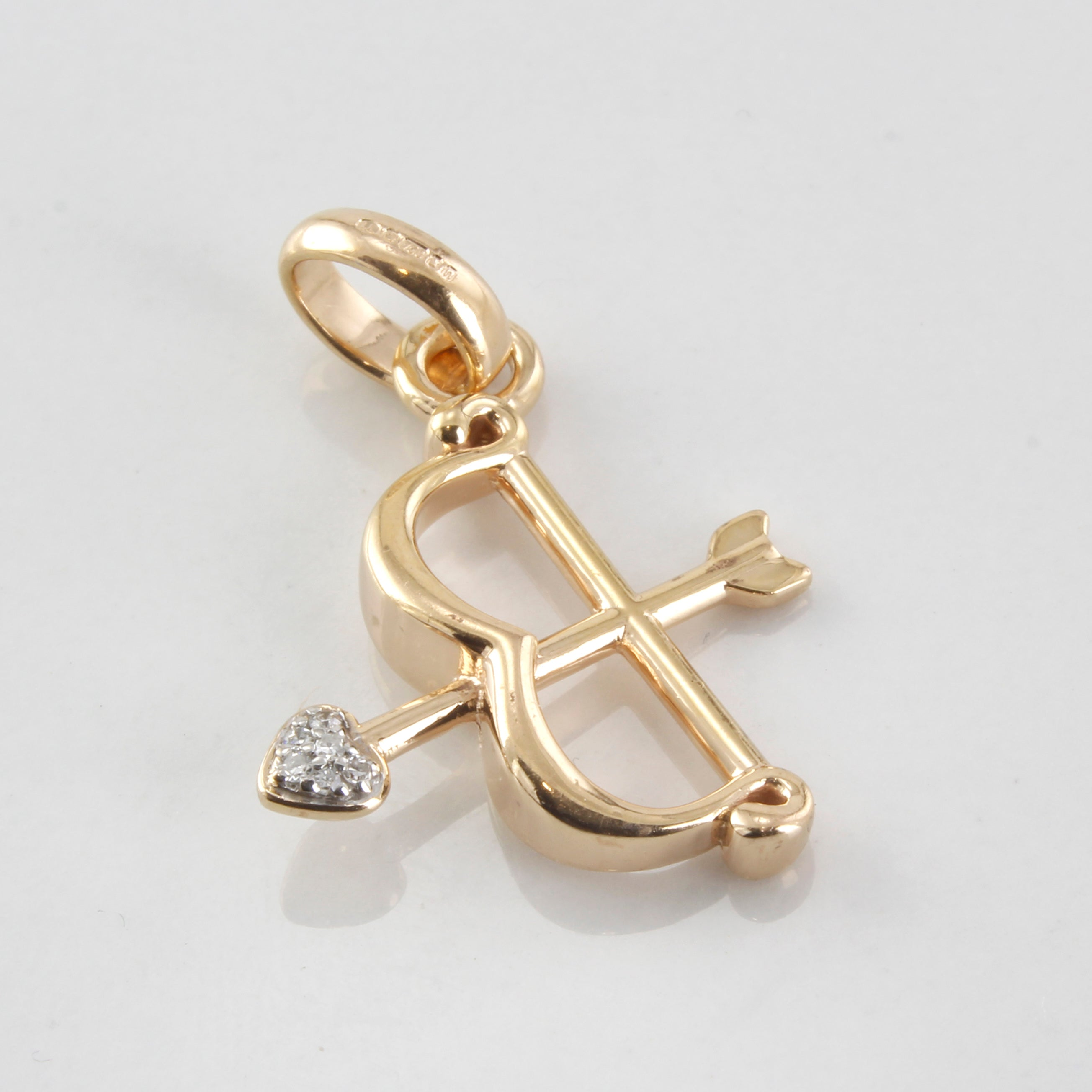 Diamond Cupids Bow Pendant | 0.02ctw |