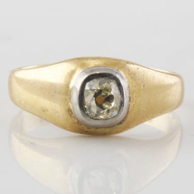 Old mine cut diamond solitaire vintage ring, antique ring for sale in Canada