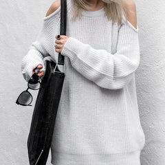 IRO Light Grey Lineisy Sweater