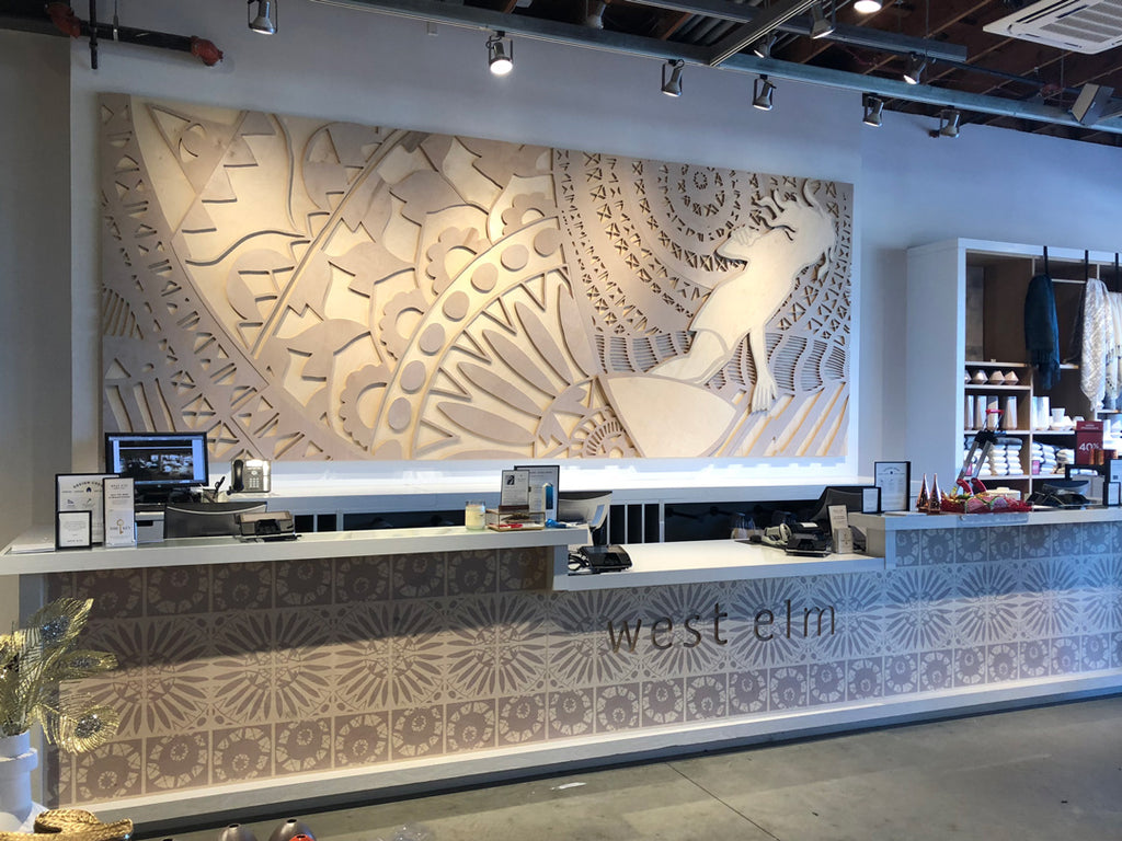 Andy Davis art installation for West Elm Solana Beach