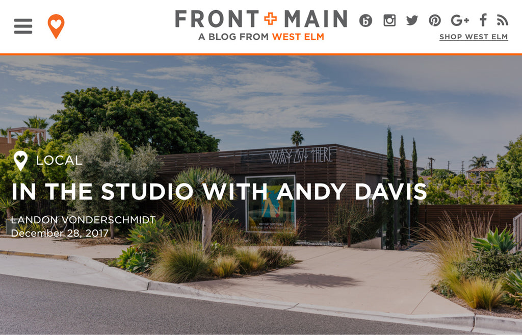 In the Studio with Andy Davis, West Elm article