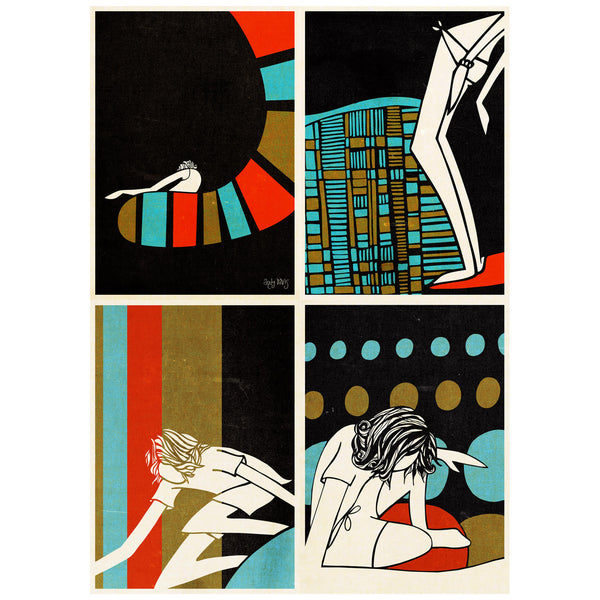 Shapes Postcards set of 4