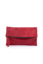 Dylan Foldover Clutch Red