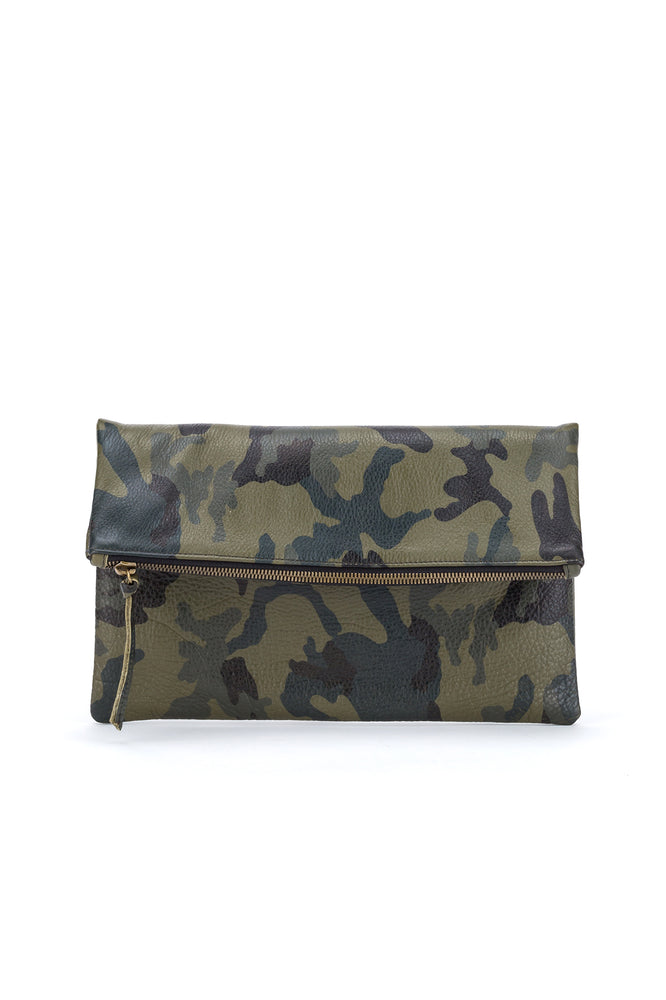 Dylan Foldover Clutch Camo