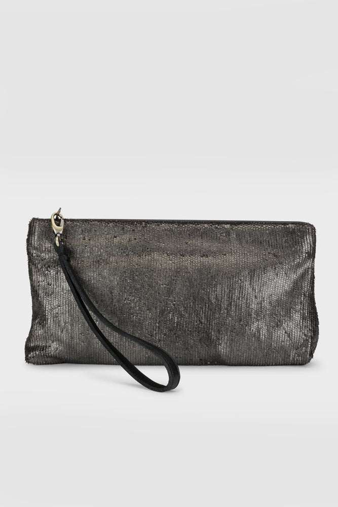 Suki Clutch Black Metallic