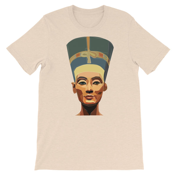 Nefertiti Tan Short-Sleeve Unisex T-Shirt