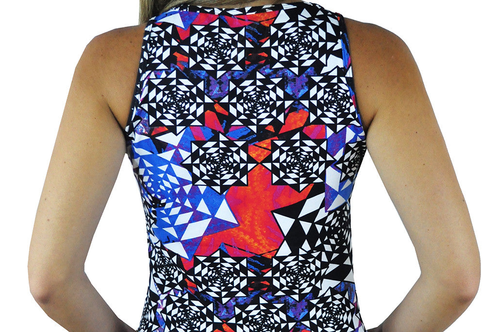 Abstract Sleeveless Top