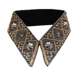 Silver Gold Beaded Collar