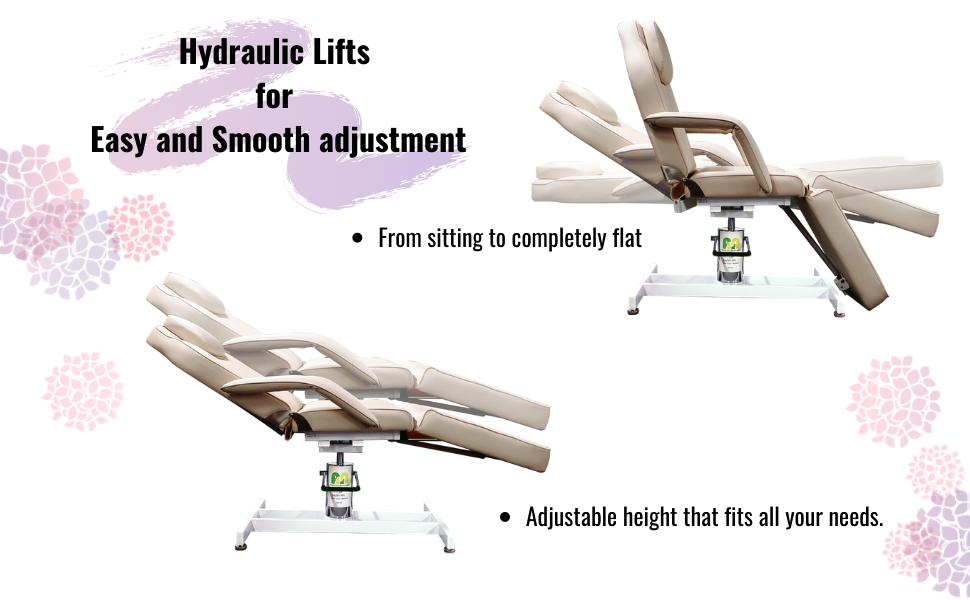 Hydraulic spa chair and massage table