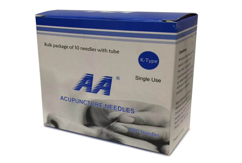 AA Brand Acupuncture Needles — 1000-Count Box / A2A