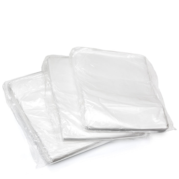 Bags of folded liners. Each bag contains 100 individual liners.