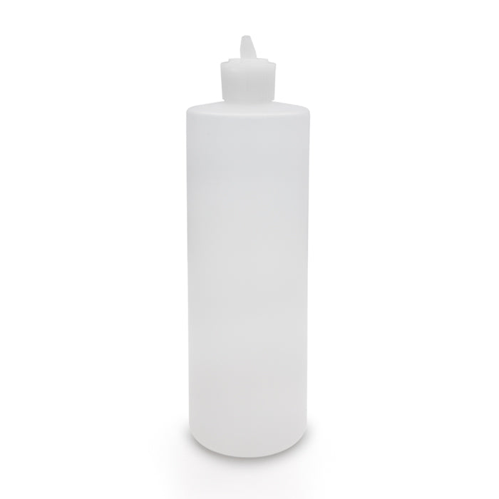 E-23C 16 oz translucent plastic bottle