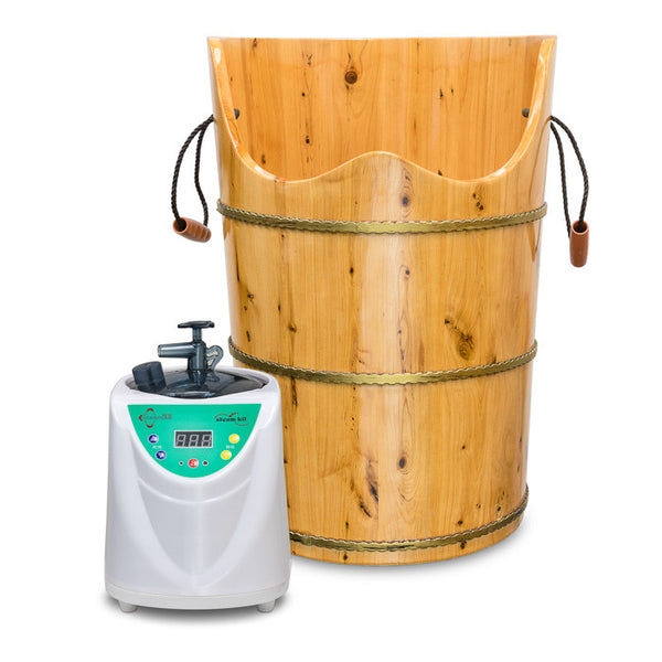 Foot Steam Kit with Wooden Bucket and Remote / E-30A