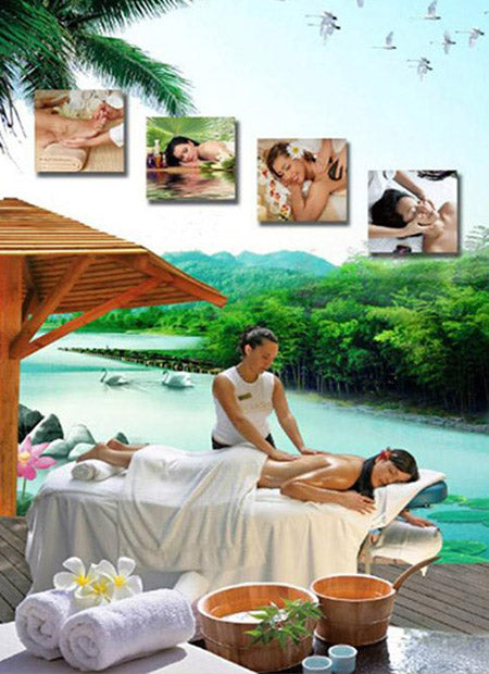 G-08H01 Perspective Window Sticker Massage Print-XL - Acubest