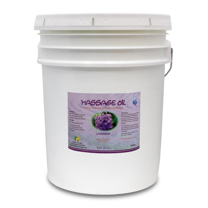 HF049 Lavender scented massage oil 5-gallon pail
