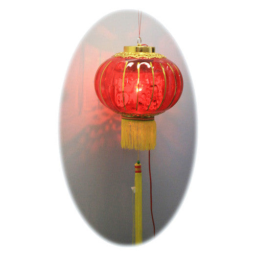Red Electric Chinese Revolving Lantern / HF093D1 - Acubest