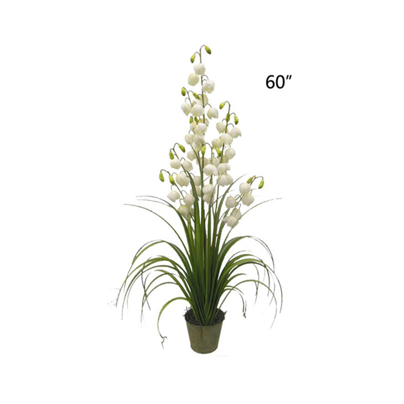 Artificial potted plant: fake fabric Lily of the Valley: faux flowers for spa/clinic decoration: Imperial Orchid/ HF095-18 - Acubest