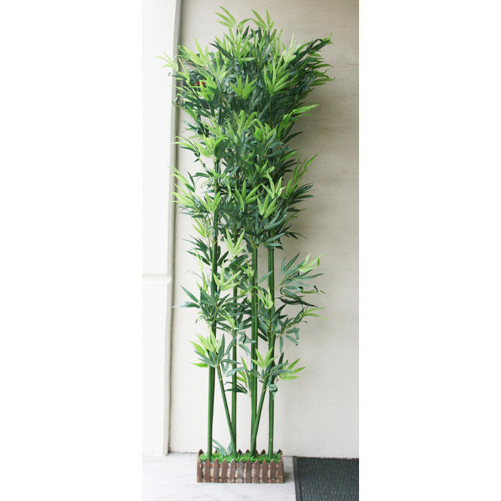Artificial plant divider: fake fabric/plastic Bamboo: faux plant for spa/clinic decoration: HF098A1 Bamboo Tree - Acubest