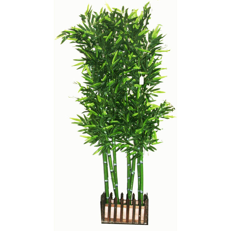 Artificial plant divider: fake fabric/plastic Bamboo: faux plant for spa/clinic decoration: Bamboo Tree / HF098A5 - Acubest