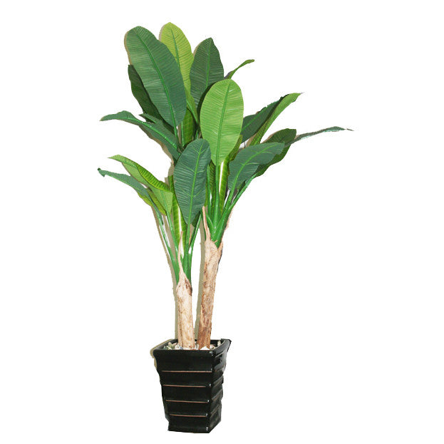 Artificial plant: fake fabric/plastic banana tree: faux plant for spa/clinic decoration HF098B1 - Acubest