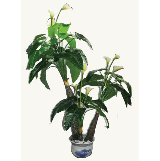 Artificial potted plant: fake Calla Lily : faux flowers for spa/clinic decoration: Item# HF098C2 - Acubest