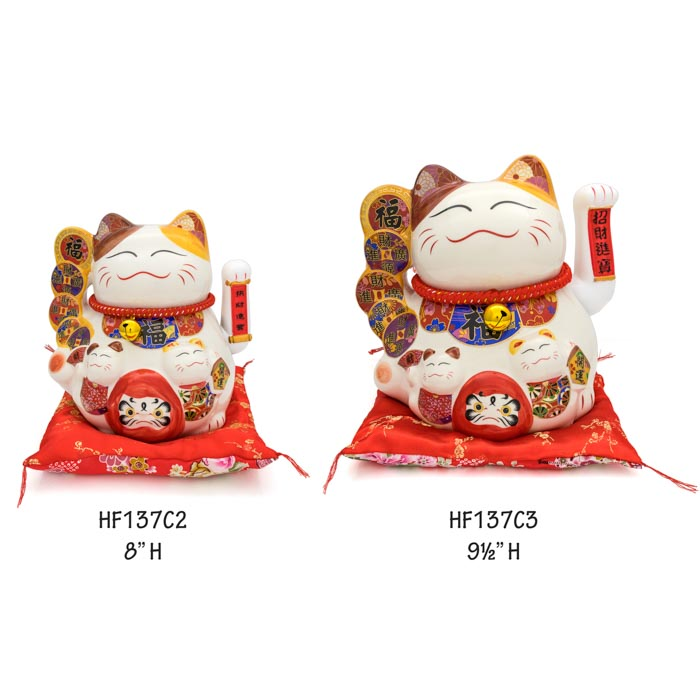 HF137C2-3 Lucky cat figures