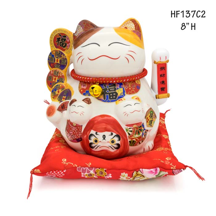 HF137C2 Lucky cat figures maneki-neko